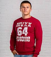 Модный мужской свитшот 64 красного цвета