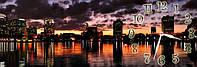 Ночной город часы настенные 30*90 см фотопечать
