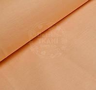 Однотонная хлопковая ткань светло-абрикосового цвета (№396а).