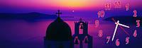 Закат в Греции часы настенные 30*90 см фотопечать