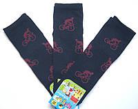 Носки темно-синие с цветным рисунком на мальчика велосипедист