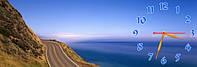 Море часы настенные 30*90 см фотопечать