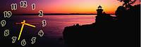 Романтический закат часы настенные 30*90 см фотопечать
