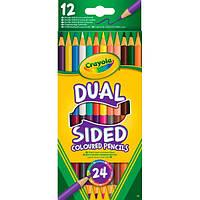 Crayola Набор Crayola 12 двухсторонних цветных карандашей (68-6100)