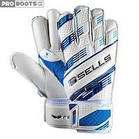 Вратарские перчатки Sells Wrap Aqua Pro White Blue