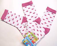Носки для девочек белые в сердечки