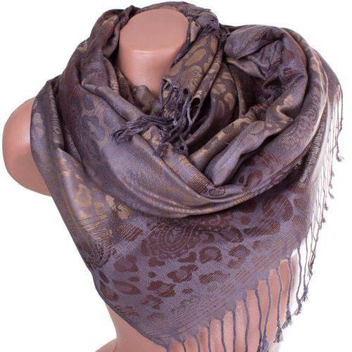 Завораживающий женский двусторонний палантин из пашмины 171 на 72 см ETERNO ES2707-9-4 коричневый