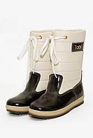 Ботинки дутые для девочек коричневые 096-2 (31-37)