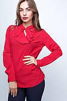 Женская блузка Жабо