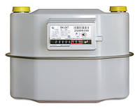 Надежный мембранный газовый счетчик Elster BK G6T, расход 0,06-10 куб.м/ч, поверка раз в 8 лет