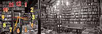 Библеотека часы настенные 30*90 см фотопечать