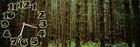 Лес часы настенные 30*90 см фотопечать