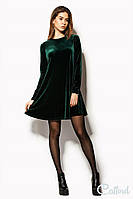 Короткое платье бархатное свободного кроя