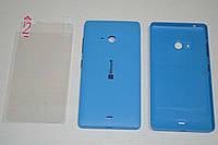 Задняя синяя крышка для Microsoft Lumia 540 + ПЛЕНКА В ПОДАРОК