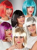 Женский карнавальный парик с мишурой