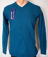 Стильный свитер однотонный для высоких мужчин