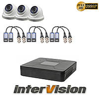 Комплект видеонаблюдения KIT-DOME 341: 3 цифровые видеокамеры  2.1 Mp Sony Exmor + видеорегистратор
