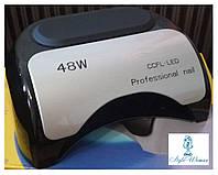Лампа для наращивания ногтей Гибридная  CCFL+LED Professional nail 48W черная