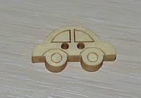 Пуговица деревянная машинка