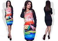 Платье женское фламинго