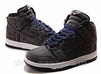 Кроссовки Nike Dunk High  (grey-white)