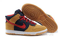 Кроссовки Nike Dunk High  (yellow-red-blue)