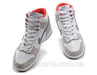 Женские кроссовки Nike DUNK High (white-grey)