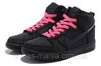 Женские кроссовки Nike DUNK High (black-pink)