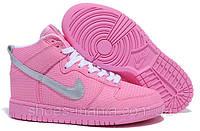 Женские кроссовки Nike DUNK High розовые