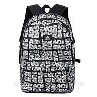 Рюкзак мужской Adidas black-white А-50011-17