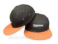 Кепка  Supreme Snapback black-orange