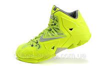 Баскетбольные кроссовки Nike Lebron 11 салатовые
