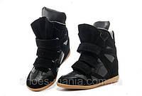 Женские кроссовки Isabel Marant черные