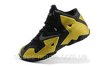 Баскетбольные кроссовки Nike Lebron 11 black-yellow