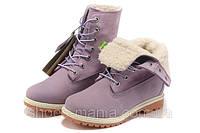 Женские  ботинки Timberland Teddy Fleece (С МЕХОМ)  purple