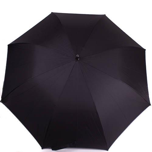 Зонт-трость мужской полуавтомат с большим куполом ZEST (ЗЕСТ) Z41670 черный, антиветер