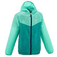 Куртка дождевик для мальчика Quechua Rain cut зеленая