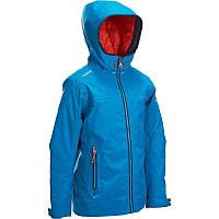 Куртка осенняя для мальчика водонепроницаемая Tribord Raincoastal голубая