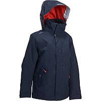 Куртка осенняя для мальчика водонепроницаемая Tribord 100JR синяя