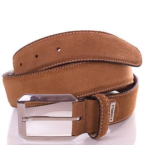 Мужской кожаный ремень 3,5 см GEORGES CHABROLLE (ЖОРЖ ШАБРОЛЛЬ) FARE006-10-1 коричневый