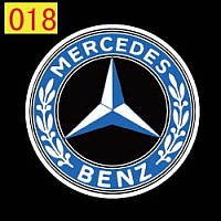 Светодиодный логотип для автомобиля LED LOGO 018 MERCEDES, логотип на дверь авто, эмблема mercedes benz