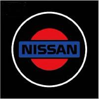 Дверной логотип LED LOGO 070 NISSAN, светодиодная подсветка на двери с логотипом, nissan логотип