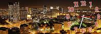 Ночной город - 1 часы настенные 30*90 см фотопечать