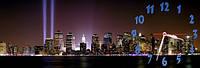 Ночной город - 2 часы настенные 30*90 см фотопечать