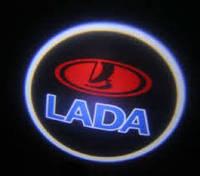 Светодиодный логотип на дверь авто LED LOGO 245 LADA, эмблема lada, светодиодный дверной логотип