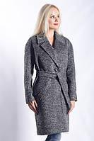 Женское Пальто П-011 Темно-серый