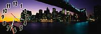 Ночной город - 8 часы настенные 30*90 см фотопечать