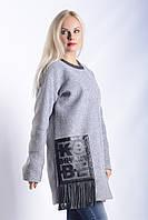 Женское Пальто П-019 Серый