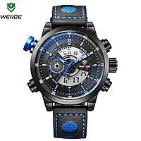 Часы наручные электронные Weide WH 3401  Leather Blue
