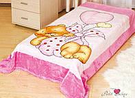 "Плед   "" Мишка - розовый"" Размер 127 * 152"